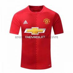 Billige Fodboldtrøjer Manchester United 2016-17 Kortærmet Hjemmebanetrøje