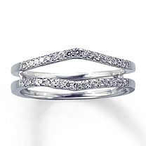 14K White Gold 1/4 Carat t.w. Diamond Solitaire Enhancer ( my wedding band) <3