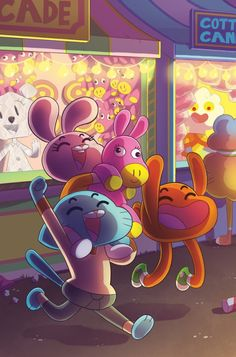 Hey hey! I also did the subscription cover for Amazing World of Gumball #10! PICK IT UP, Gumball is hilarious!!