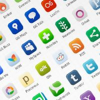 Calling all web designers (or design fans,) these social media vector icons are really fun.