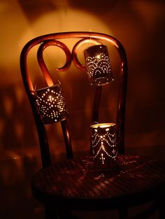 Tin Can Lantern {tutorial} Always wanted to make these!