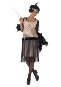Channel the '20s in a classic flapper costume.