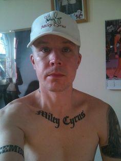 #1 miley cyrus fan tattoo