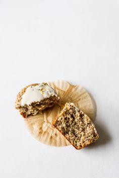 Citrus Poppy Seed Muffins with Cashew Cream Glaze