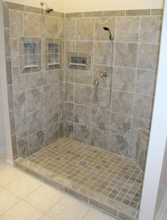 The KBRS ShowerSlope line of shower bases are must for any tile shower installation. Get your KBRS shower bases today to enjoy waterproof performance. Accent Tile Bathroom, Ada Bathroom, Handicap Bathroom, Small Bathroom, Bathroom Ideas, Tile Bathrooms, Shower Ideas, Shower Niche, Shower Floor