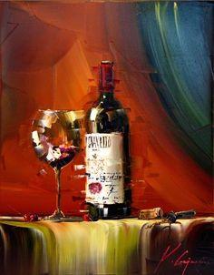 Acrylic Painting Flowers, Fruit Painting, Wine Photography, Wine Art, Still Life Art, Paintings, Art Images, Still Life, Wine