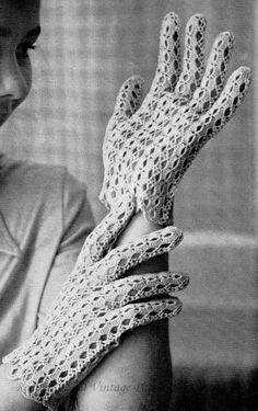 1960's Summer Gloves to Crochet  Vintage Crochet Pattern PDF