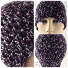 Extra thick Purple Gray Black Ladies Hand by JazzitUpwithDesigns, $25.00