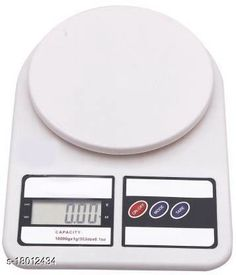 Checkout this latest Weighing Scales/Machines Product Name: *Digital Kitchen Weighing Machine Multipurpose Electronic Weight Scale with Backlit LCD Display for Measuring Food, Cake, Vegetable, Fruit Weighing Scale  (White)* Product Name: Digital Kitchen Weighing Machine Multipurpose Electronic Weight Scale with Backlit LCD Display for Measuring Food, Cake, Vegetable, Fruit Weighing Scale  (White) Brand Name: Others Brand: Others Material: Abs Plastic Type: Electric Multipack: 1 Country of Origin: India Easy Returns Available In Case Of Any Issue   Catalog Rating: ★4 (1503)  Catalog Name: Classy Weighing Scales/Machines CatalogID_3651337 C126-SC1525 Code: 043-18012434-537
