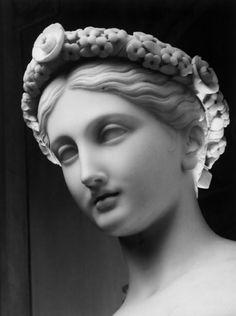 Flora (head detail)  by Pietro Tenerani, 1840,  Hermitage Museum, Saint Petersburg, Russia.  (Photo by Aurelio Amendola)
