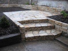 kámen, kamenné schody, schody, zahrada