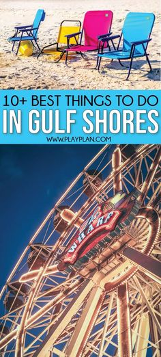 The best things to do in Gulf Shores Alabama not just the beach! Tons of great ideas for kids tips for where to stay in the area great rentals best restaurants top attractions and more! Gulf Shores Beach, Gulf Shores Vacation, Gulf Shores Alabama, Destin Beach, Beach Trip, Beach Vacations, Beach Travel, Alabama Vacation, Alabama College