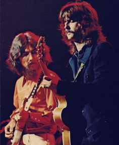 soundsof71: brightvenus: George Harrison & Eric Clapton Concert for Bangladesh, August 1, 1971