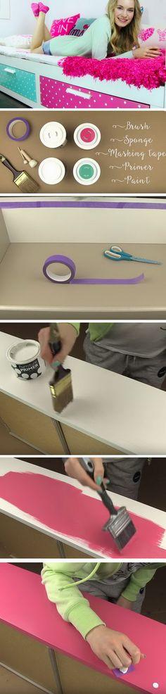 DIY Polka Dot Drawers.