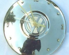 VW kever klok Volkswagen Bug wieldop Clock Retro door StarlingInk