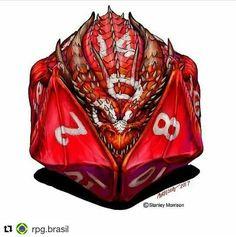 Dragon T Shirt Digital Art by Stanley Morrison Dungeons And Dragons Art, Dnd Dragons, Dice Tattoo, Dragon Dies, Dnd Art, Fantasy Rpg, Dragon Art, Cool Tattoos, Tatoos