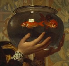 'The goldfish bowl' attributed to Charles Edward Perugini.