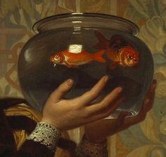 'The goldfish bowl' attributed to Charles Edward Perugini.