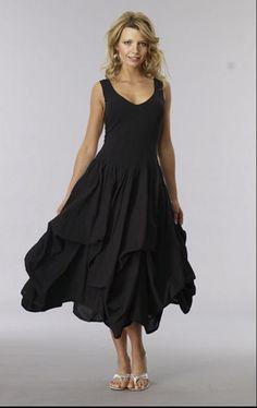 Luna Luz Dress-Long Black Size M #LunaLuz #Sundress