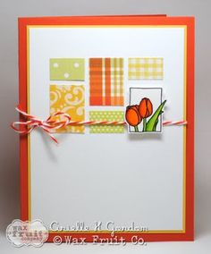 what a way to use up those little scraps! #stamping #cards