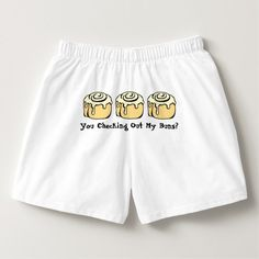 You Checking Out My Buns? Men's Funny Boxers Underwear. Text can be customized…. Funny Underwear, Boxers Underwear, Men's Boxers, Funny Boxer, Party Quotes, Sarcastic Humor, Funny Humor, Funny Outfits, Boyfriend Gifts