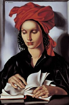Woman reading, by Tamara de Lempicka (Polish, 1898-1980)