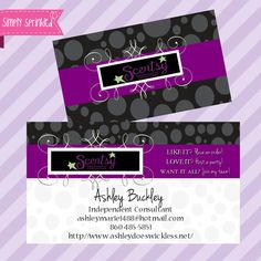 Scentsy Business Card DIY Printable by Simply by SimplySprinkled, $13.00