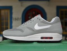 Nike Air Max 1 Hyperfuse – Silver/White Red #sneakers #kicks