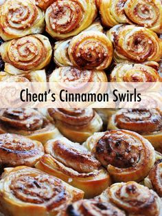 Recipe: Cheat's Cinnamon Swirls Weekend brunch idea or ideal for Christmas breakfast. Makes the whole house smell of cinnamon and warm spices. Cheat's Cinnamon Swirls (or whirls if you prefer). Strudel, Puff Pastry Pinwheels, Brunch Recipes, Brunch Ideas, Breakfast Ideas, Eat Breakfast, Sweet Pastries, Puff Pastries, Sweet Puff Pastry Recipes