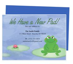 template for change of address cards