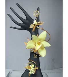 Prom Flowers with orchids and diamond wire