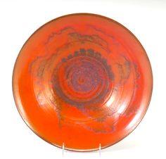 NATZLER Fine and large flaring bowl covered in mot (Uranium orange glaze)