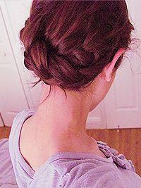 Katniss Everdeen's reaping day hair-do.