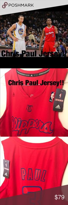Chris Paul NBA store jacket New condition NBA Jersey.  Size is listed as medium, however, this jersey is very large! Adidas Other