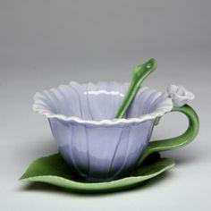 Purple Dahlia Cup and Saucer