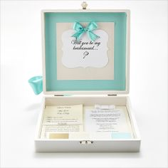 Shi  Uri | Contemporary Bride bridesmaid box available in 6 more colors! How will you make asking your girls special!?