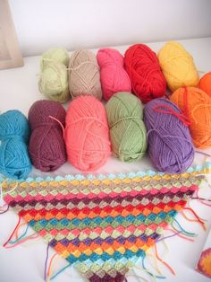 Diagonal crochet  quick blanket-- LOVE the colors!