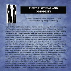 Tight Clothing and Immodesty
