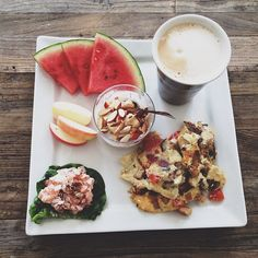 Sunday means homemade brunch with @larsbrogger emojiemojiemoji Best way to start a wonderful SundayemojiMenu: Vanilla coffee, watermelon, apple, yogurt with fruit and almonds, omelet with vegetables and salmon mousseemoji #sunday #summer #summertime #food #healthyfood ##healthyliving #healthylifestyle #loveit #marielouisecramer #marielouisecramerdk  emojiemojiemoji