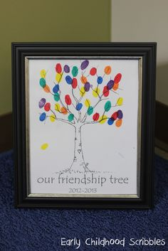 Friendship tree - many ways to build on this idea - Early Childhood Scribbles
