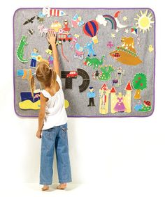 Create a World Felt Board by Cuddly Toys & Play Mats on #zulilyUK today! Play / School room idea for imagination play