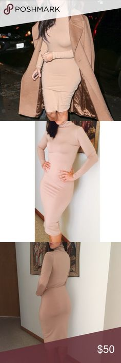 KIM K TURTLENECK DRESS New dress. Boutique bought, worn only for pics, new but no tags. Size medium, true to size. NO TRADES OFFERS WELCOME Boutique Dresses Midi