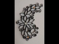 Recycled Paper Towel Roll WALL ART - DIY - YouTube