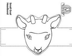 chinese year of goat face mask template; kutchok.com
