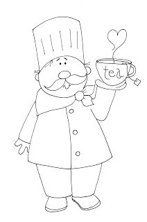 Free Dearie Dolls Digi Stamps: As requested....Tea Chef
