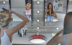 Brushing my hair poses by Clover - Sims 3 Downloads CC Caboodle