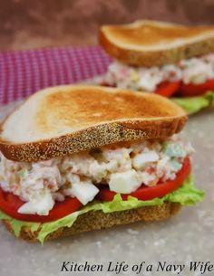 Paula Deen's Shrimp Salad Sandwiches