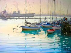 Watercolor Water, Impressionism, Sailing Ships, Boats, Google Search, Art, Art Background, Ships, Kunst