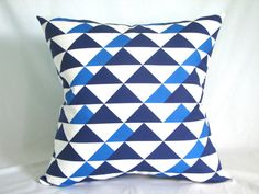 Buster Mod Throw Pillow 22 x 22 in Royal by CANOPYstudio on Etsy, $48.00