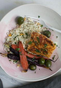 Moroccan-Spiced Cod with Cauliflower Couscous and Carrots | 21 Easy And Healthy Meals For One